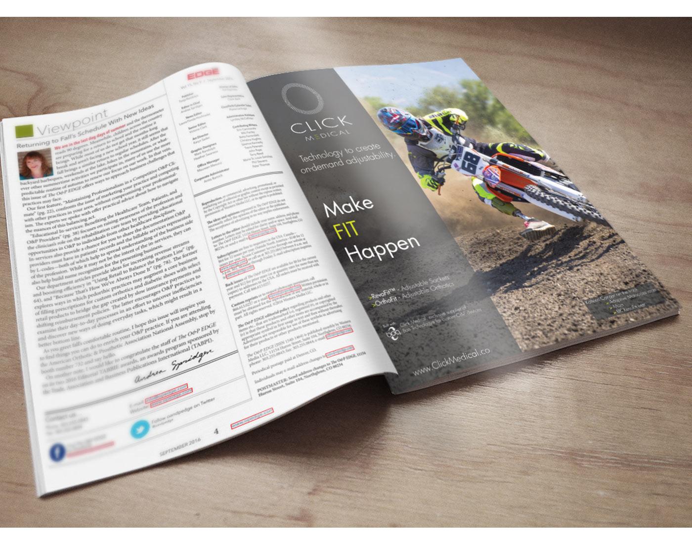 Click Medical Print Ad
